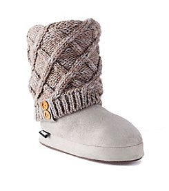 MUK LUKS Marled Lattice Slippers