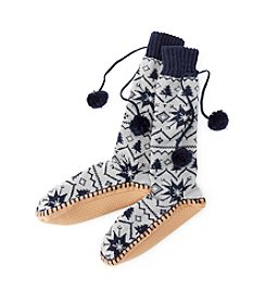 MUK LUKS® Pattern Slipper Socks