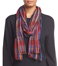 Collection 18 Plaid Away Neck Wrap