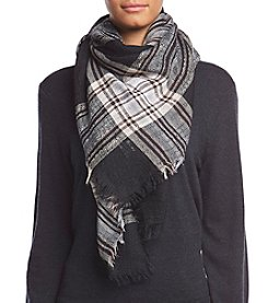 Collection 18 Essential Plaid Square Wrap