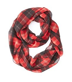 Collection 18 Plaid Loop Scarf