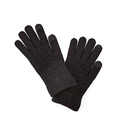 Steve Madden Solid Cable Knit Touch Gloves