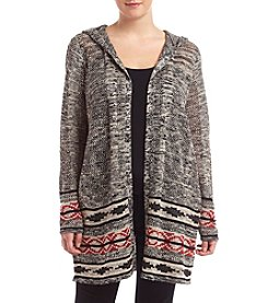 Oneworld ® Plus Size Printed Cardigan With Hood