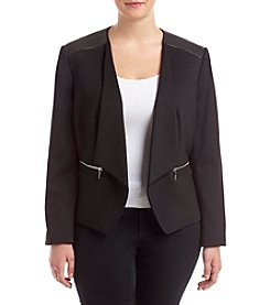 Nine West® Plus Size Ponte Roma Kiss Front Jacket