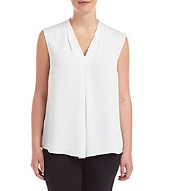 Nine West® Plus Size Solid Light Weight Crepe Cami