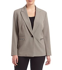 Nine West® Plus Size Taylor Stretch One Button Jacket