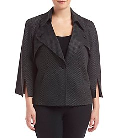 Nine West® Plus Size One Button Poncho Jacket