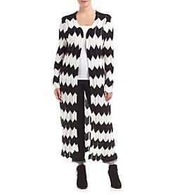 Relativity® Plus Size Chevron Duster