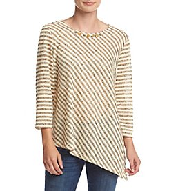 Alfred Dunner® Cactus Ranch Diagonal Striped Knit Top