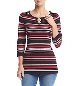 Studio Works® Crew Neck Striped Tunic