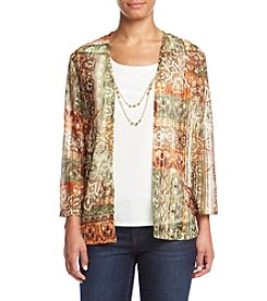 Alfred Dunner® Cactus Ranch Layered Look Patchwork Top