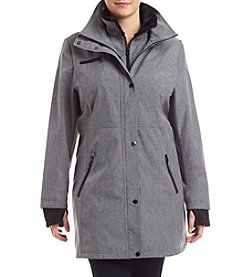 Jessica Simpson Plus Size Snap Front Coat