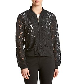 Fever™ Lace Bomber Jacket