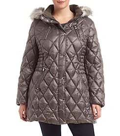 Esprit® Plus Size Diamond Quilted Puffer