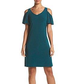 Prelude® Solid Color Cold Shoulder Dress