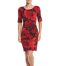 Connected ® Floral Matte Jersey Sheath Dress