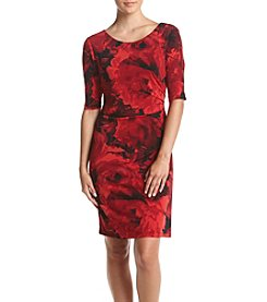 Connected® Petites' Sheath Wrap Dress