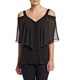 MSK® Solid Color Knit Cold Shoulder Top