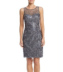 Xscape Lace Beaded Sheath Dress