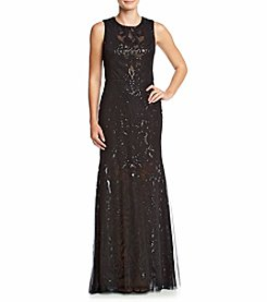 Vera Wang® Embellished Lace Long Dress