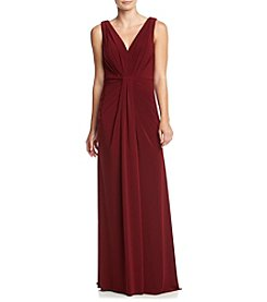 Vera Wang® V-Neck Long Dress