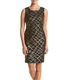 Tommy Hilfiger® Metallic Crosshatch Dress