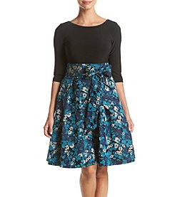 Adrianna Papell® 3/4 Sleeve Floral Printed Dress