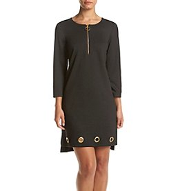 Prelude® Zip Front Grommet Trim Dress