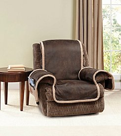 Sure Fit® Vintage Leather Recliner Furniture Cover