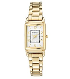 Anne Klein® Goldtone Rectangular Bracelet Watch