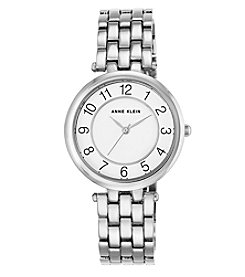 Anne Klein® Easy Reader Silvertone Bracelet Watch