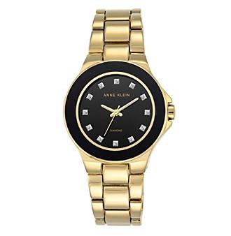 Anne Klein® Diamond Dial Goldtone Bracelet Watch