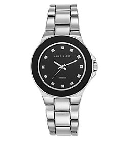 Anne Klein® Diamond Dial Silvertone Bracelet Watch