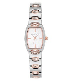 Anne Klein® Two-Tone Swarovski® Crystal Embellished Bracelet Watch