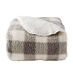 Ruff Hewn Plaid Sherpa Throw