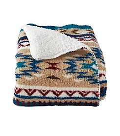 Ruff Hewn Stripe Sherpa Throw