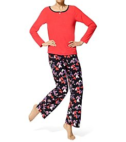 HUE® Three-Piece Pajama Set