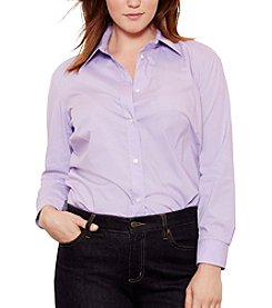 Lauren Ralph Lauren® Plus Size Stretch Broadcloth Shirt