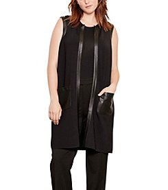 Lauren Ralph Lauren® Plus Size Faux Leather-Trim Vest