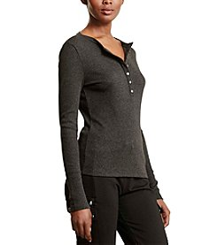 Lauren Active® Ribbed Jersey Henley