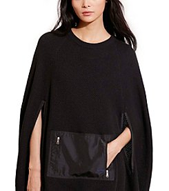 Lauren Active® Cotton Crewneck Poncho