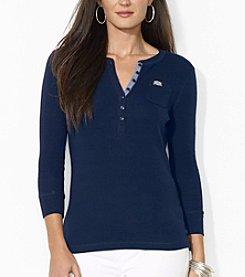 Lauren Ralph Lauren® Three-Quarter-Sleeved Henley