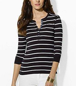 Lauren Ralph Lauren® Striped Cotton Henley