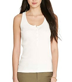 Lauren Ralph Lauren® Ribbed Cotton Tank