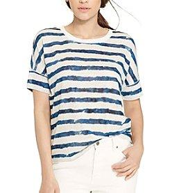 Lauren Ralph Lauren® Striped Linen Tee