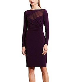 Lauren Ralph Lauren® Mesh-Yoke Jersey Dress