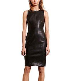 Lauren Ralph Lauren® Faux-Leather Sheath Dress