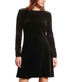 Lauren Ralph Lauren® Velvet A-Line Dress