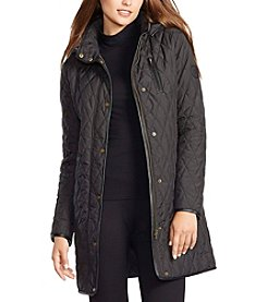 Lauren Ralph Lauren® Long Diamond Quilted Coat