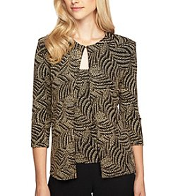 Alex Evenings® Printed Twin-Set Top